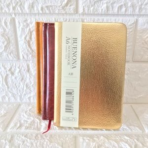 Other - Golden color Leather type notebook ruled 80 sheets